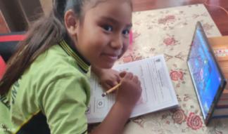Bedankbrief school in Peru